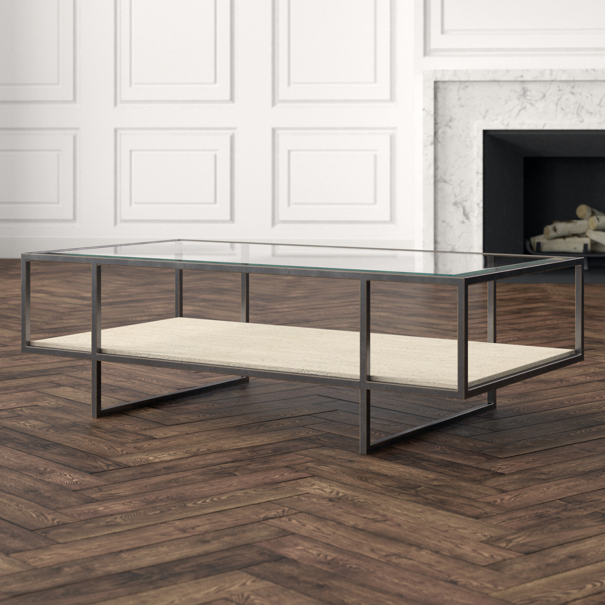 Bernhardt Harlow Sled Coffee Table With Storage Perigold