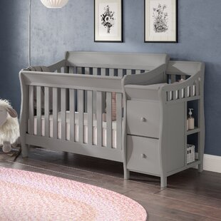 Clearance Naomi 4-in-1 Convertible Crib and Changer Combo By Viv + Rae