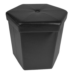 Sommer Collapsible Hexagon Storage Ottoman by Winston Porter