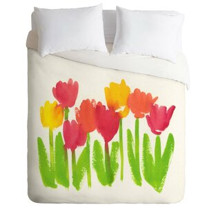 East Urban Home Bright Tulips Duvet Cover Set