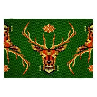 Chobopop Geometric Deer Novelty Rug byDeny Designs