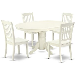 Kovac 5 Piece Extendable Solid Wood Dining Set
