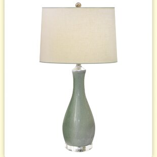 Sage Paradise Crackle Porcelain 29 Table Lamp