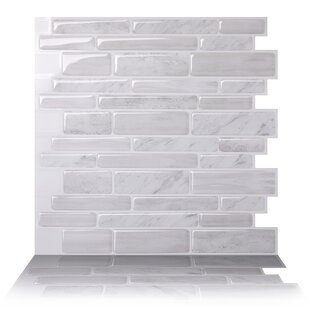 10 X L And Stick Mosaic Tile In White