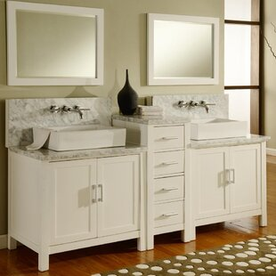 Horizon 84 Double Premium Bathroom Vanity Set with Mirror By Direct Vanity Sink