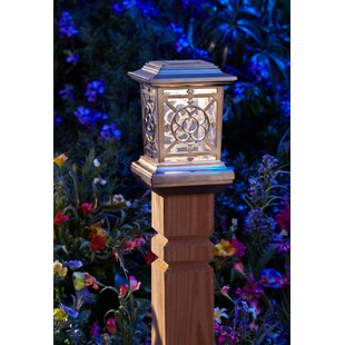 Premium Output Solar Powered Plastic 1 Light Fence Post Cap (Set of 4)