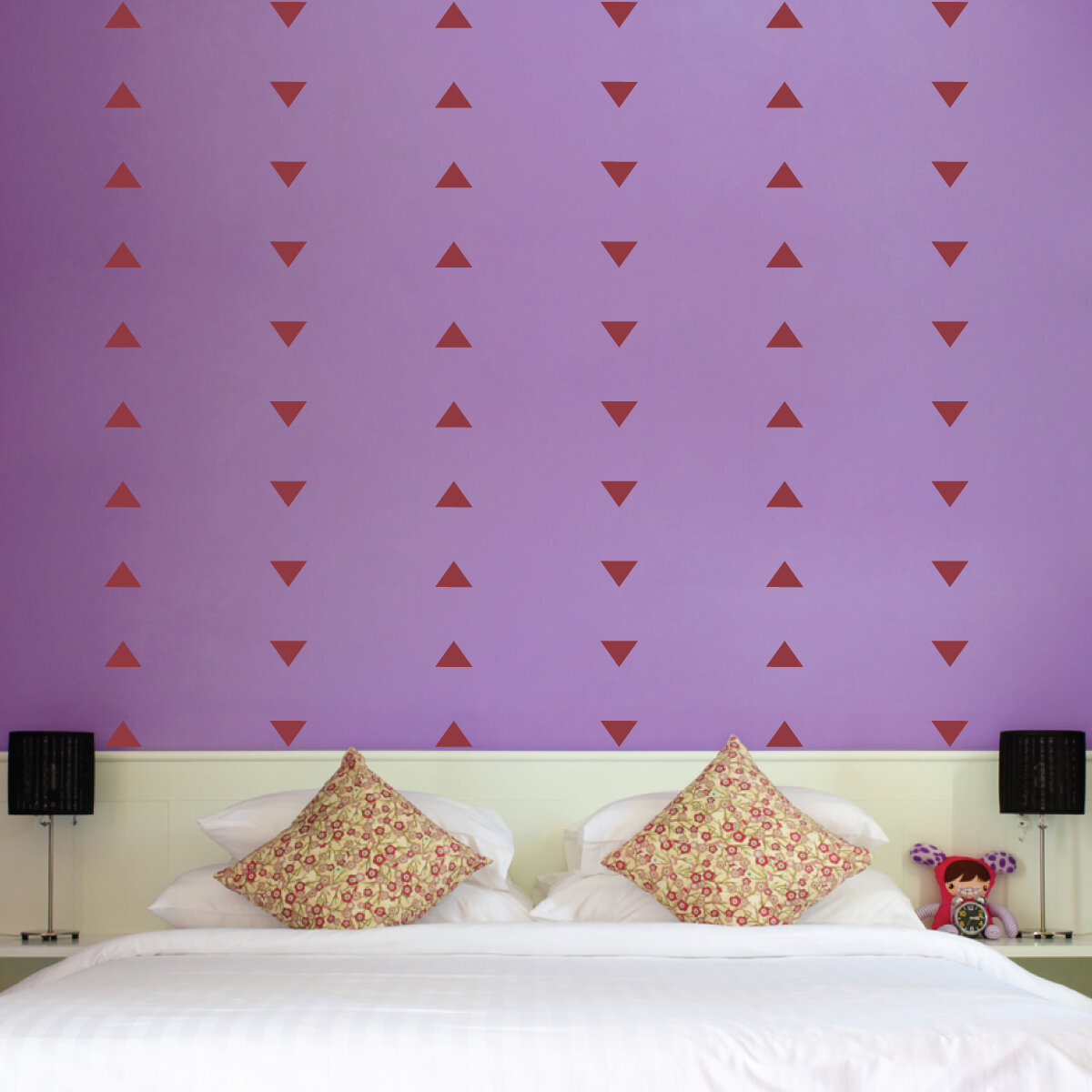Wallums Wall Decor Triangle Decals
