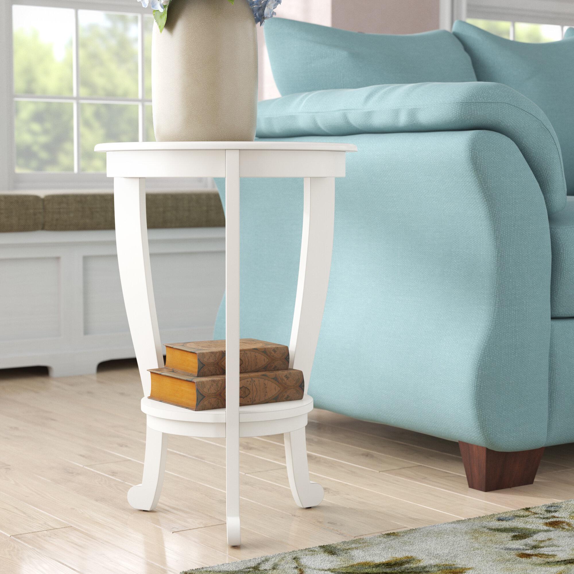 Three Posts Regan Solid Wood 3 Legs End Table With Storage Reviews Wayfair