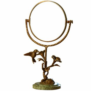 Compare prices Conklin Bird Humming and Flower Mirror ByAugust Grove