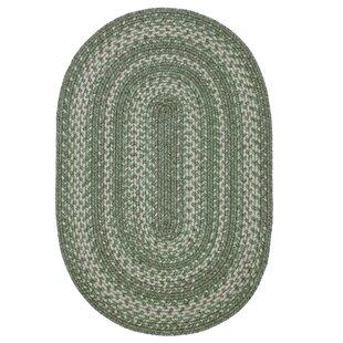 Arinze Ultra Durable Braided Green/Beige Indoor/Outdoor Area Rug