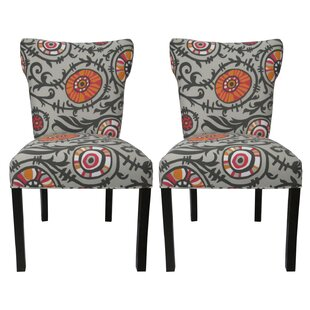 Willard Cotton Wingback Cotton Side Chair (Set of 2) by Sole Designs