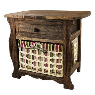 Steinberg Classic Countryside Wood Storage 1 Drawer Nightstand