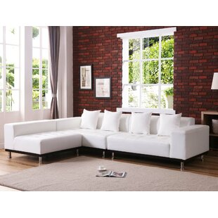 Sloten Leather Reversible Modular Sectional