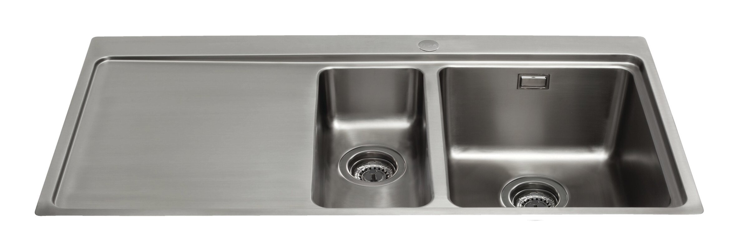 Inset Kitchen Sinks Cda 100cm x 52cm 15 bowl inset kitchen sink reviews wayfair 100cm x 52cm 15 bowl inset kitchen sink workwithnaturefo