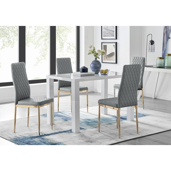 White Table And Grey Chairs Wayfair Co Uk
