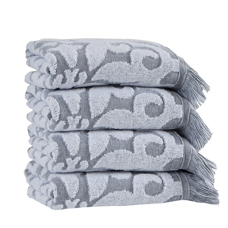 House Of Hampton Salinas 4 Piece Turkish Cotton Hand Towel Set Reviews Wayfair