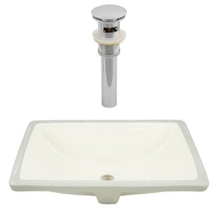 Best Deals CSA Ceramic Rectangular Undermount Bathroom Sink with Overflow By Royal Purple Bath Kitchen