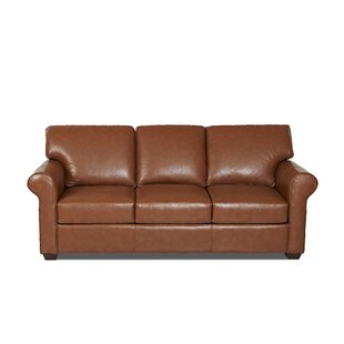 Rachel Leather Sofa by Wayfair Custom Upholstery™ 2019 Online