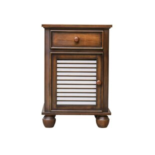 Montez Shutter1 Drawer Nightstand by Bayou Breeze