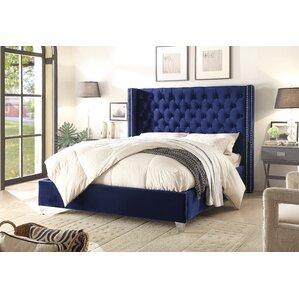 inverness upholstered platform bed - Blue Bed Frame
