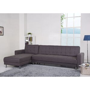sc 1 st  Wayfair : leather sectional sleeper - Sectionals, Sofas & Couches