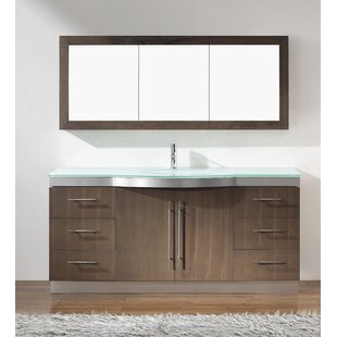 Reviews Diara 72 Single Bathroom Vanity Set with Mirror By Bauhaus Bath