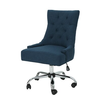 Anja Home Task Chair Color: Navy Blue by Andover Mills