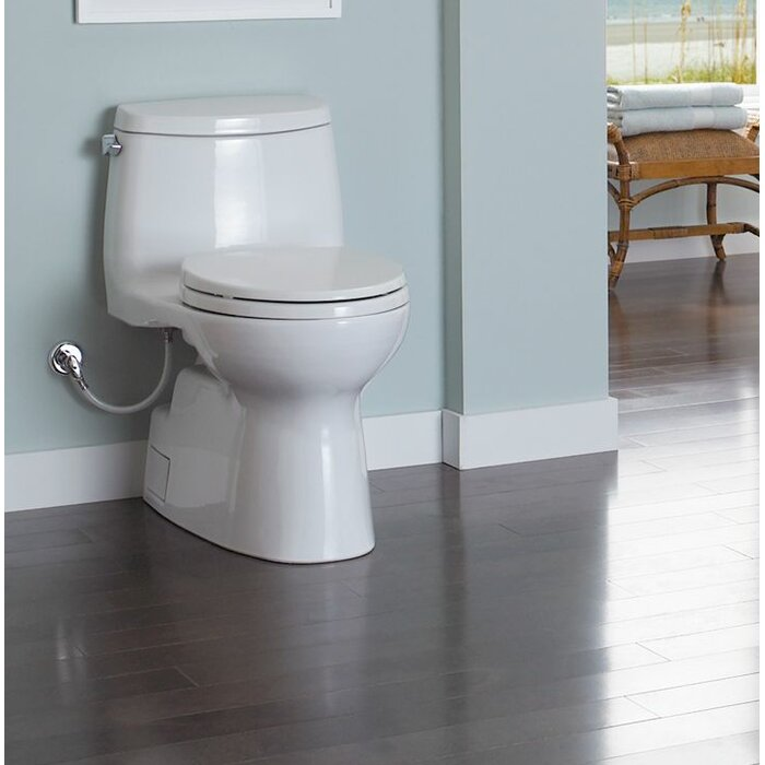 Remarkable Carlyle 1 28 Gpf Elongated One Piece Toilet Seat Included Beatyapartments Chair Design Images Beatyapartmentscom