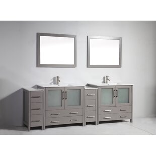 Affordable Boyes 96 Double Bathroom Vanity Set with Mirror By Wrought Studio