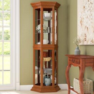 Three Posts Hollingdon Lighted Curio Cabinet