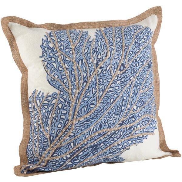 Highland Dunes Aloisia Sea Fan Cotton Throw Pillow Reviews Wayfair