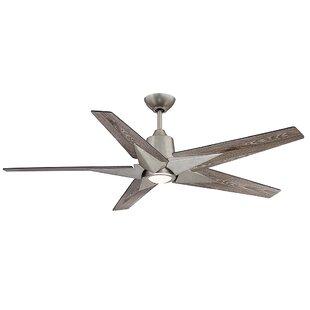 Best Choices St Annes Kenham 5 Blade LED Ceiling Fan with Remote By Orren Ellis