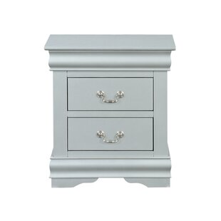 Petterson Wooden 2 Drawer Nightstand by Charlton Home
