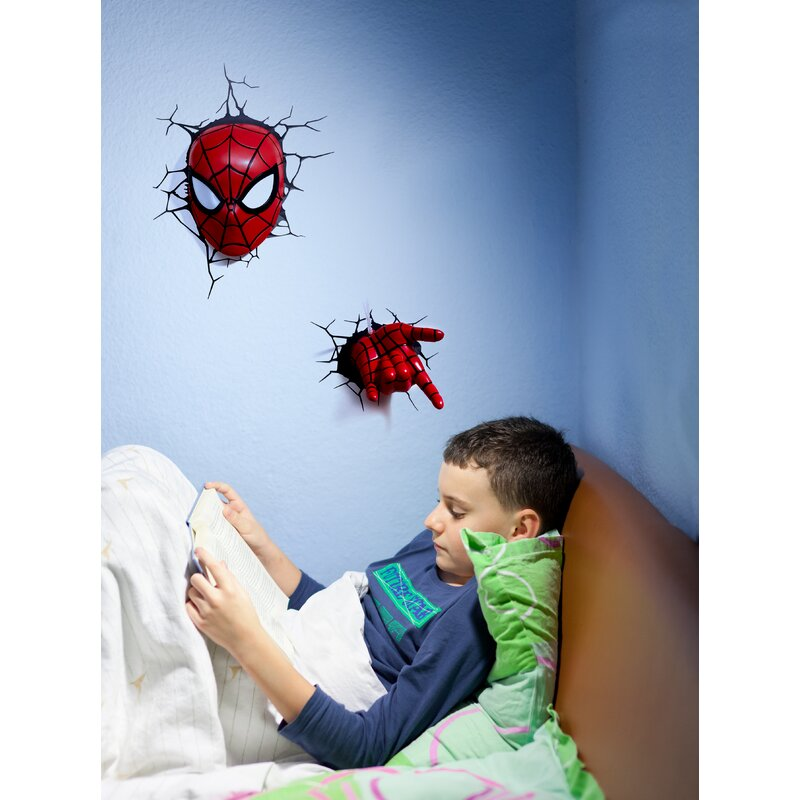 Expressive New Spider Man Colorful 3d Light Touch Switch Led Light Gradient Visual Stereo Lamp Creative Atmosphere Desk Lamp Lights & Lighting