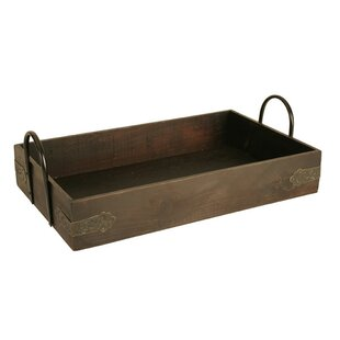 Jasen Serving Tray With Metal Handle