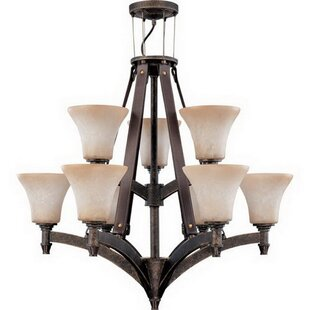 Fossum 9-Light Shaded Chandelier by Millwood Pines