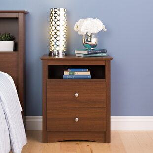 Top Reviews Elio 2 Drawer Nightstand by Latitude Run
