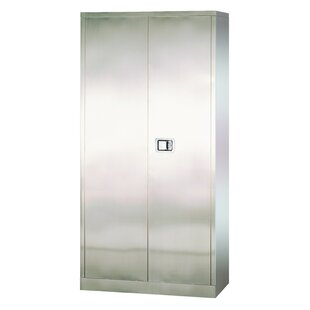 Stainless Steel 2 Door Storage Cabinet by Sandusky Cabinets