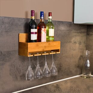 Vance 4 Bottle Wall Mount Wine Rack By Natur Pur