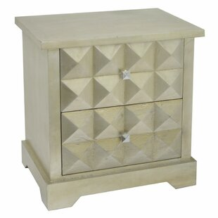 Compare Jawad 2 Drawer Nightstand by Bungalow Rose