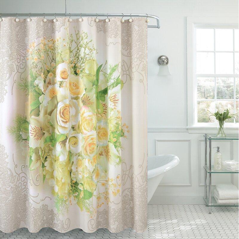 Bath Fancy Tulip Single Shower Curtain