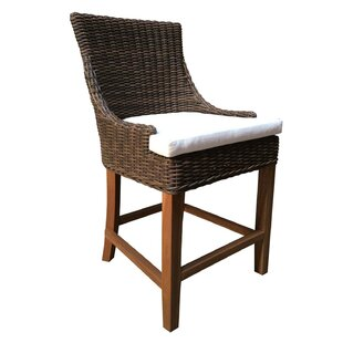 Enriquez Patio Bar Stool by Rosecliff Heights
