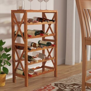 Andover Mills Davidsville 25 Bottle Floor Wine Rack