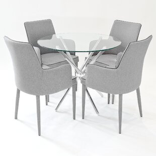 Broderick Circular Dining Set With 4 Chairs By Metro Lane