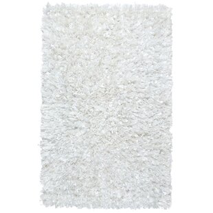 Comparison Baumann Hand-Loomed White Area Rug By Ebern Designs