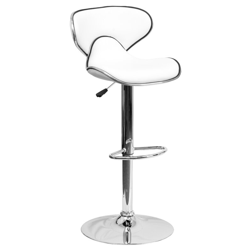 Merveilleux Marlon Adjustable Height Swivel Bar Stool