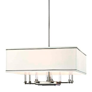 Everly Quinn Marcia 8-Light Shaded Chandelier