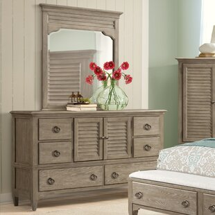 Manhart 6 Drawer Dresser with Mirror