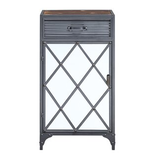 Roseau Mirrored 1 Door Accent Cabinet