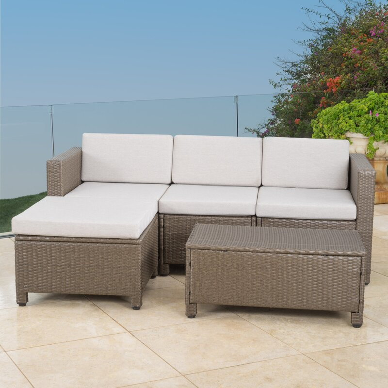 5 Piece Sectional Seating Group with Cushions